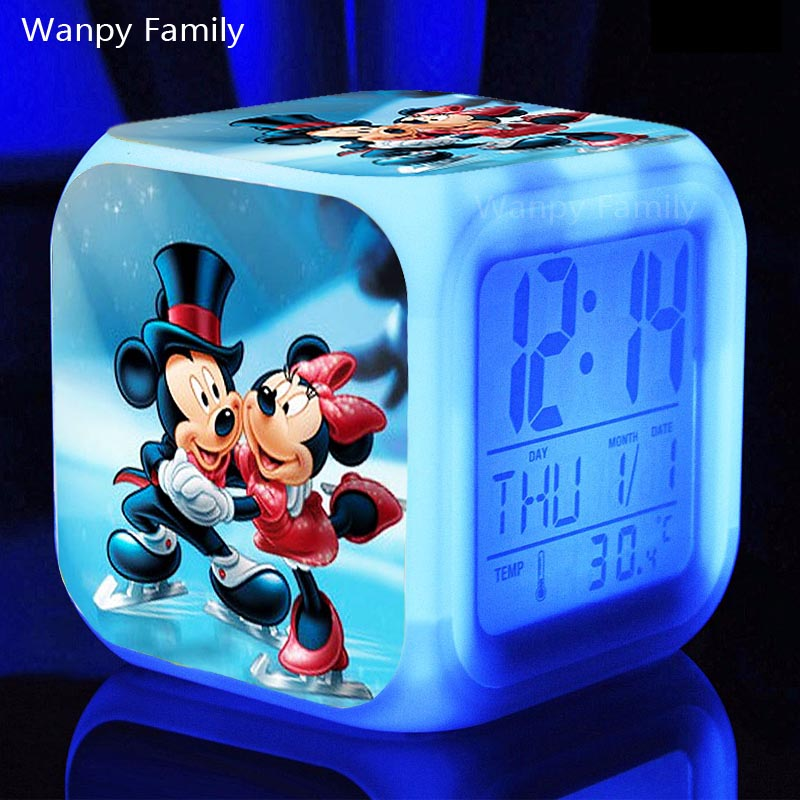 Provided Suncree Big Numbers Wood Led Digital Clocks Clocks Sound Control Wooden Alarm Clock With Temperature Electronic Table Desktop Watch Colours Are Striking Home Decor