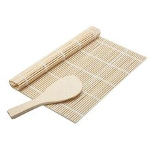 Sushi Maker Kit Rice Roll Mold Kitchen DIY Mould Roller Mat Rice Paddle Set(China)