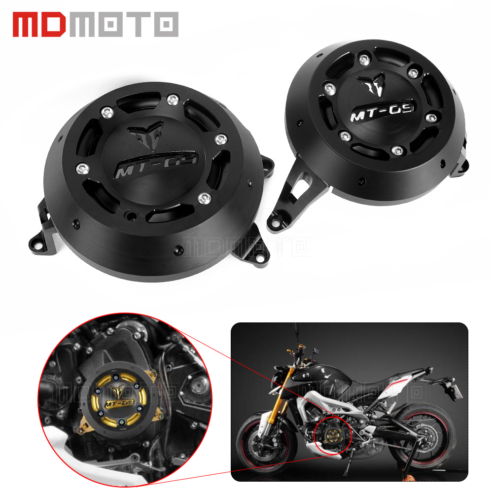 Motorcycle CNC Engine Guard Stator Protective Plug Clutch Protect Slider Cover Right&Left Side For Yamaha MT-09 FZ-09 MT09 FZ09 3 5 6 10pcs sonoff smart wifi wireless switch module app ewelink remote control smart home automation kit for sonoff itead