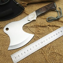 Hot Sale CK F09 Camping Survival Wood Handle Tomahawk 7Cr17Mov Blade Hunting Axe High Quality Outdoor Multi Hand Tools CS go
