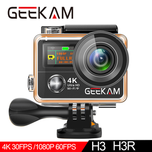 """Image 4 - Câmera de ação geekam h3r/h3 ultra hd 4k, 30fps 20mp, tela dupla à prova d água, wifi 2.0 """"e 170d capacete câmera de gravação de vídeo esportivo"""