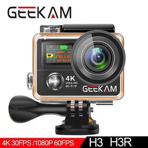 "Image 4 - GEEKAM H3R/H3 عمل كاميرا الترا HD 4 K/30fps 20MP WiFi 2.0 ""170D شاشة مزدوجة مقاوم للماء خوذة تسجيل الفيديو كاميرا كاميرا رياضية"
