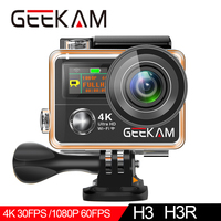 GEEKAM H3R/H3 Action Camera Ultra HD 4K/30fps 20MP WiFi 2.0 170D Dual Screen Waterproof Helmet Video Recording Camera Sport Cam