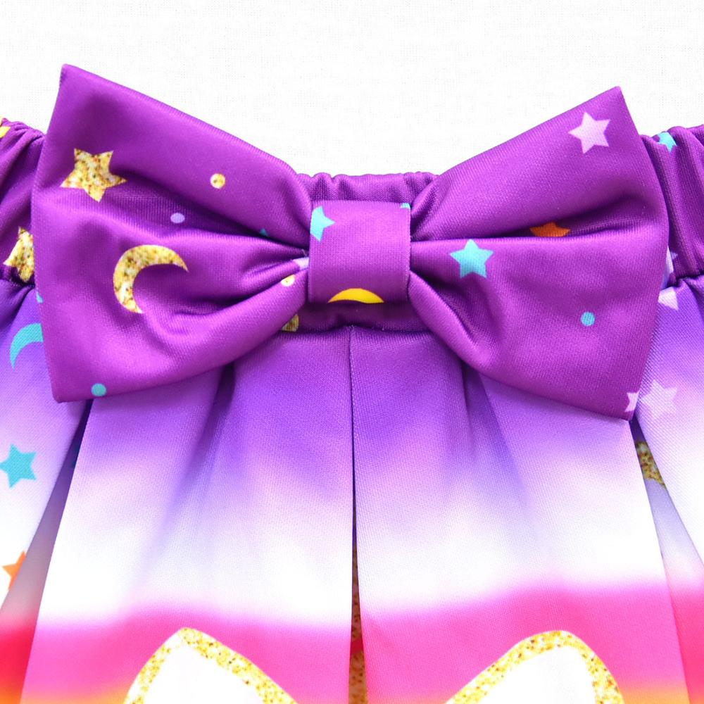 Unicorn Clothes Baby Girls Dresses For Party And Wedding Teens Fashion Kids Summer Clothes Sets Toddler Outfits Childrens Shorts 5