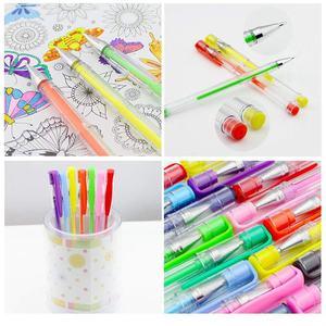 Image 3 - 100ゲルペン着色ペンセット大人のための塗り絵スクラップブッキング描画などグリッターメタリックパステルネオンsw