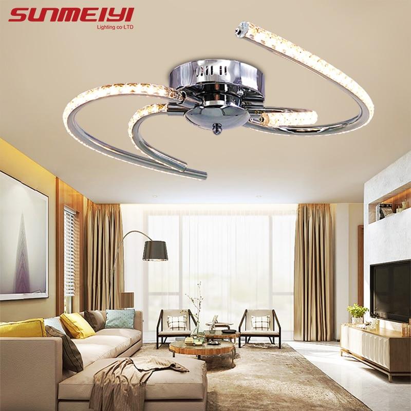 Nouvelle LED Plafonniers En cristal lamparas de techo Lampes Pour salon Chambre Plafond cristal Lampe moderne Éclairage À La Maison