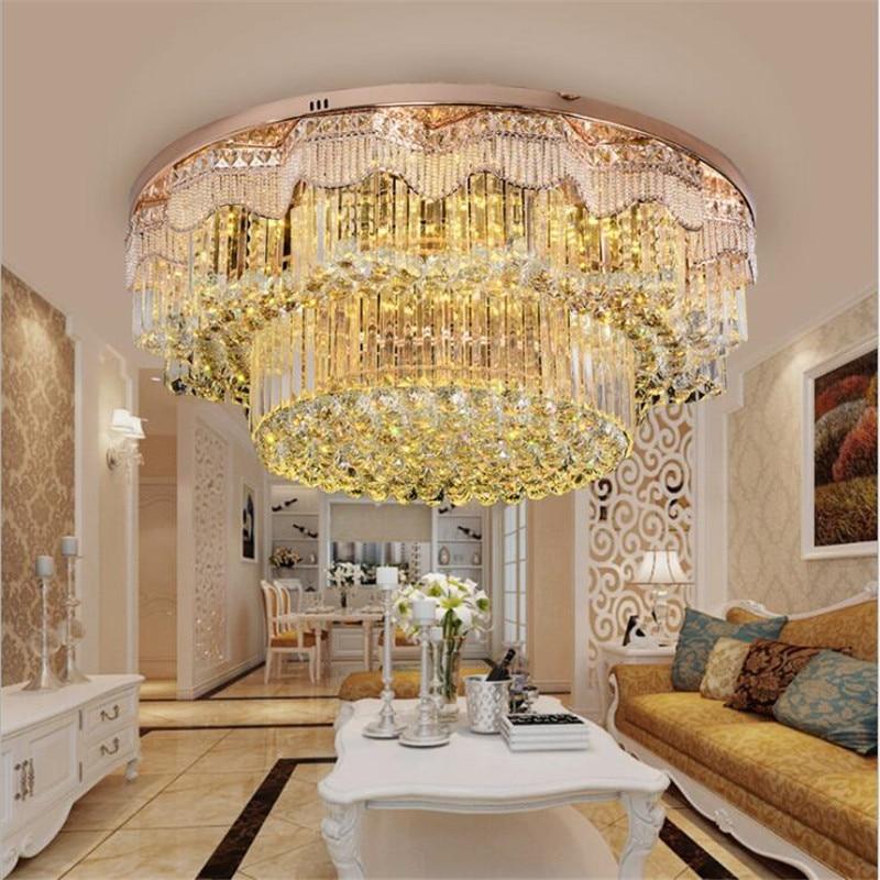 Luxury European lustre led Crystal ceiling lights / lamp Room Lights Round led Gold Bedroom Lights Restaurant Lighting Fixtures Ceiling Lights     - title=