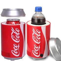 Mini usb refrigerador geladeira geladeira Dupla utilização de Calor e frio escritório dormitório casa DC 5 V 12 V carro do computador refrigerador de vinho refrigerador