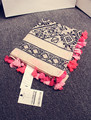 Черно-белый ромб неоновые цвета тонкий хлопок элегантный кисточкой длинный шарф женский дизайн мыс 180 * 100 см