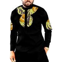 African print long shirts mens fashion patchwork slim design dashiki clothes custom africa clothing