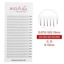 2325d0edf19 Buzz Lashes 16 Lines 2d/3d/4d/5d/6d Heat Bonded Pre Made Volume fans Faux  Mink Premade Russian Volume Eyelash Extension Supplies