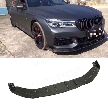 7 Series Carbon Fiber Front Lip Spoiler Splitters For BMW G10 G11 M760 730i 740i 2017-2018 Head Bumper Shovel