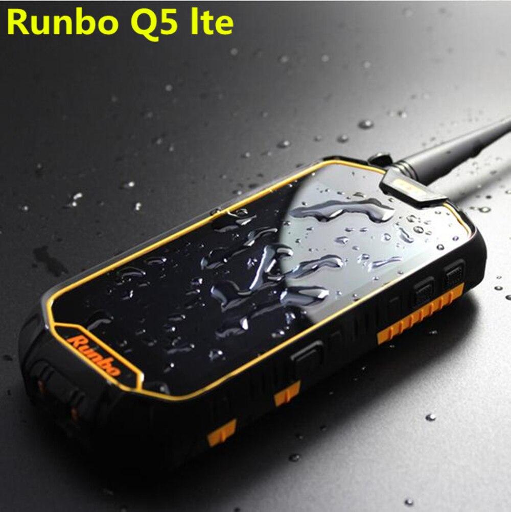 Цена за Оригинал Runbo Q5 IP67 PTT NFC OTG 2 ГБ RAM 16 ГБ водонепроницаемый телефон Walkie talkie MTK6735 Android 5.1 IPS телефон Cats50 x8 F1 X6 H1