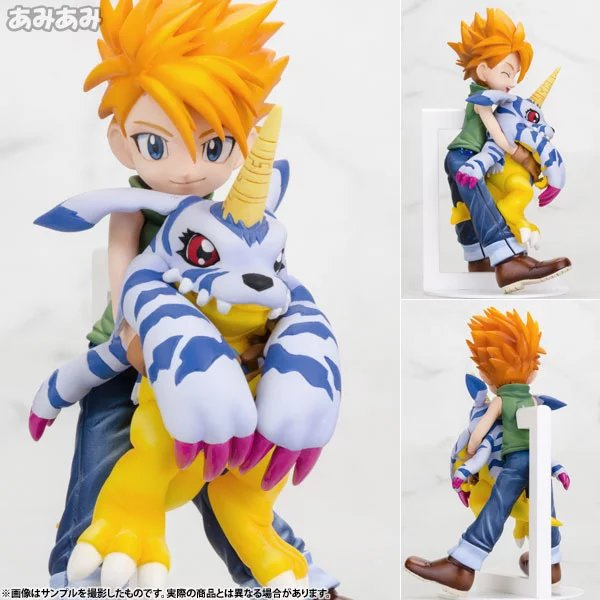 Digimon Adventure Figure Gabumon Figure War Greymon TSUNOMON Babumon Kabuterimon ISHIDA YAMATO Figure Custom Collection Box