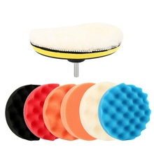 9 Pcs/Set 6 Inch Car Polishing Pad Set Buffing Sponge Polish Auto Sponge Waxing Pads Drill Set Kit For Car Polisher Wheel Wax