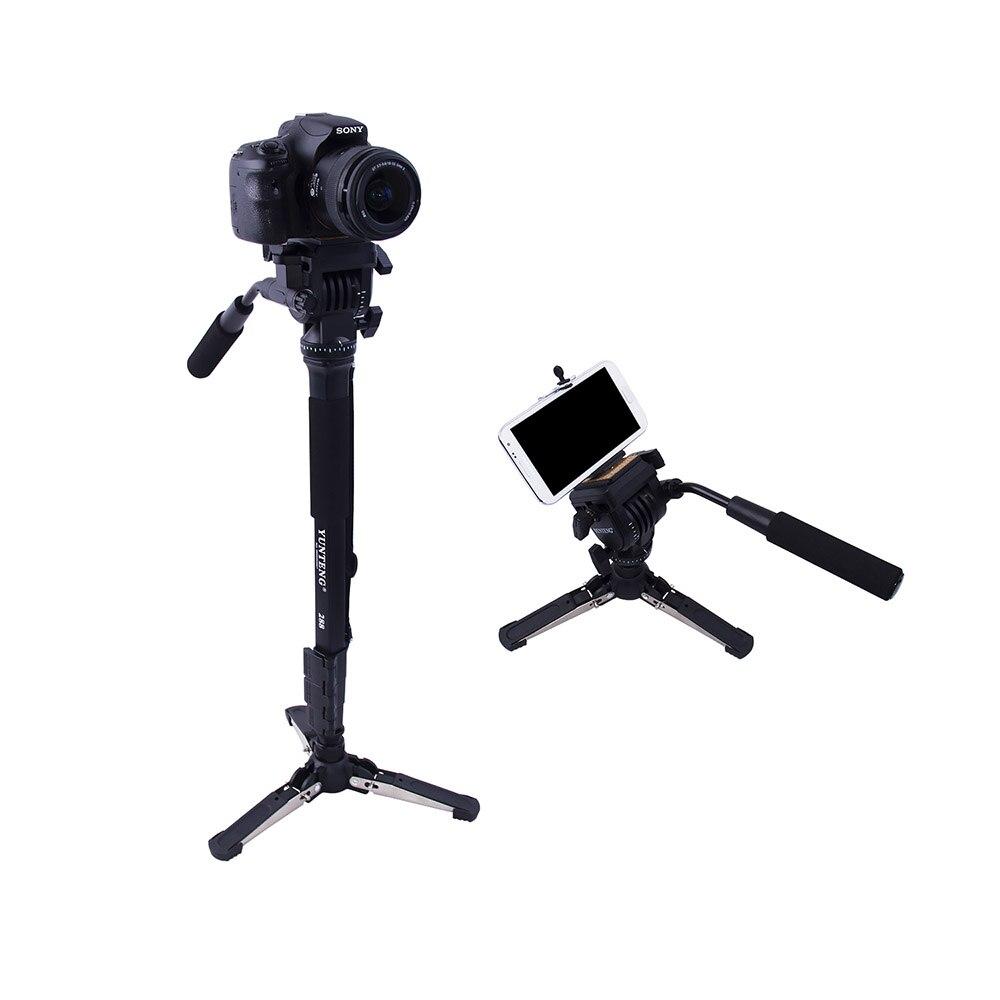 Cadiso VCT-288 monopode d'appareil photo avec tête panoramique fluide et support Unipod pour téléphone Canon Nikon et tous les reflex numériques avec support 1/4