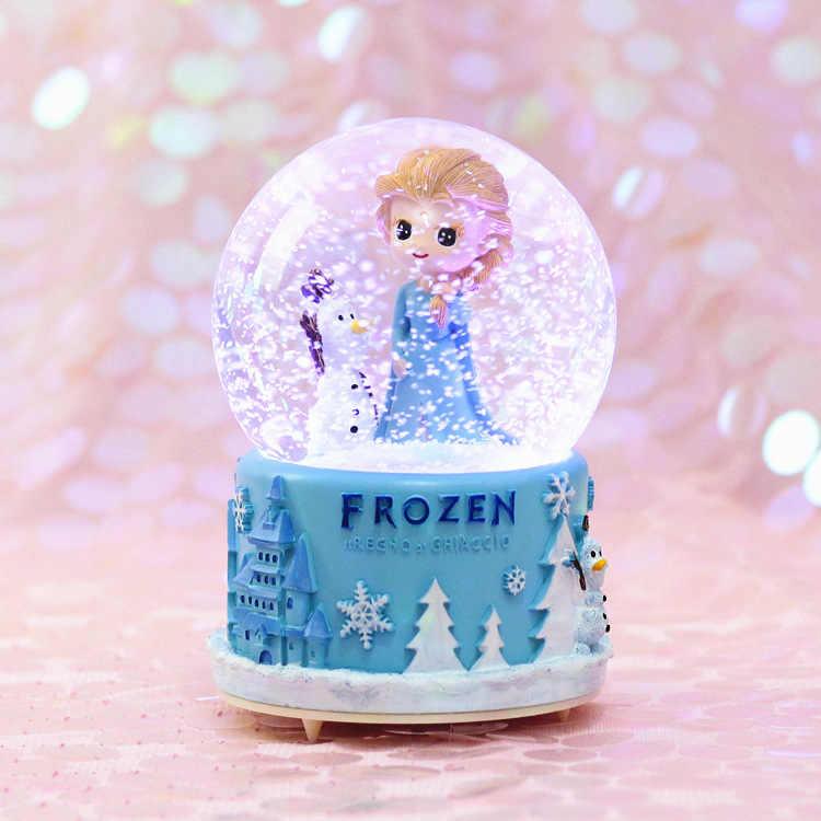 คริสตัลบอลเพลงกล่องลูกบอลหิมะอัตโนมัติเกล็ดหิมะ Carousel Music BOX ของขวัญวันเกิดสำหรับแฟนอุปกรณ์ตกแต่งบ้าน