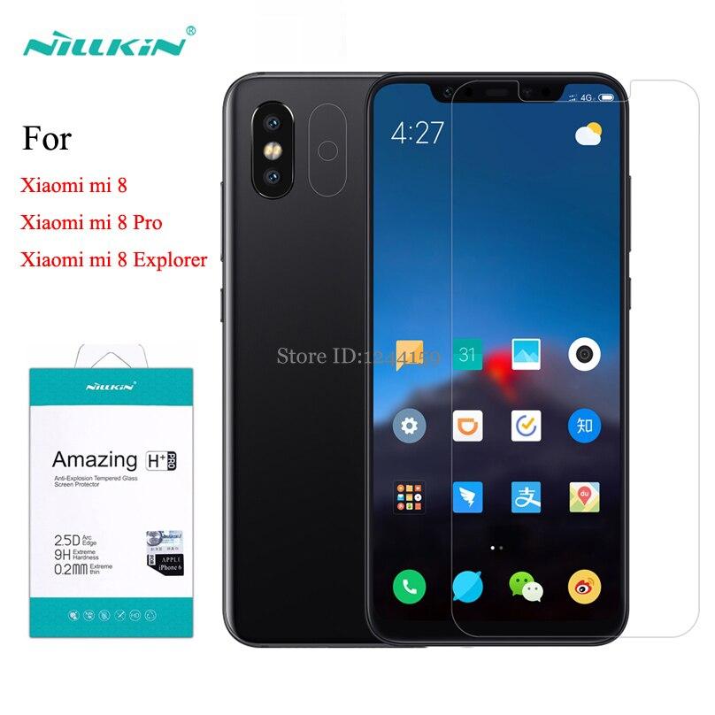 For Xiaomi Mi8 Explorer Tempered Glass Screen Protector Nillkin Amazing H+Pro H Anti-Explosion Glass film For Xiaomi Mi 8 Pro