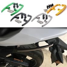 Dla Kawasaki Z650 Z 650 2017 2018 motocykl Grab bary CNC aluminium Seat jadących na tylnym siedzeniu pasażera Rail uchwyt podłokietnik podłokietniki