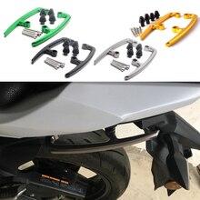 Para kawasaki z650 z 650 2017 2018 barras de apoio da motocicleta cnc alumínio assento pillion traseiro passageiro ferroviário lidar com braço apoios