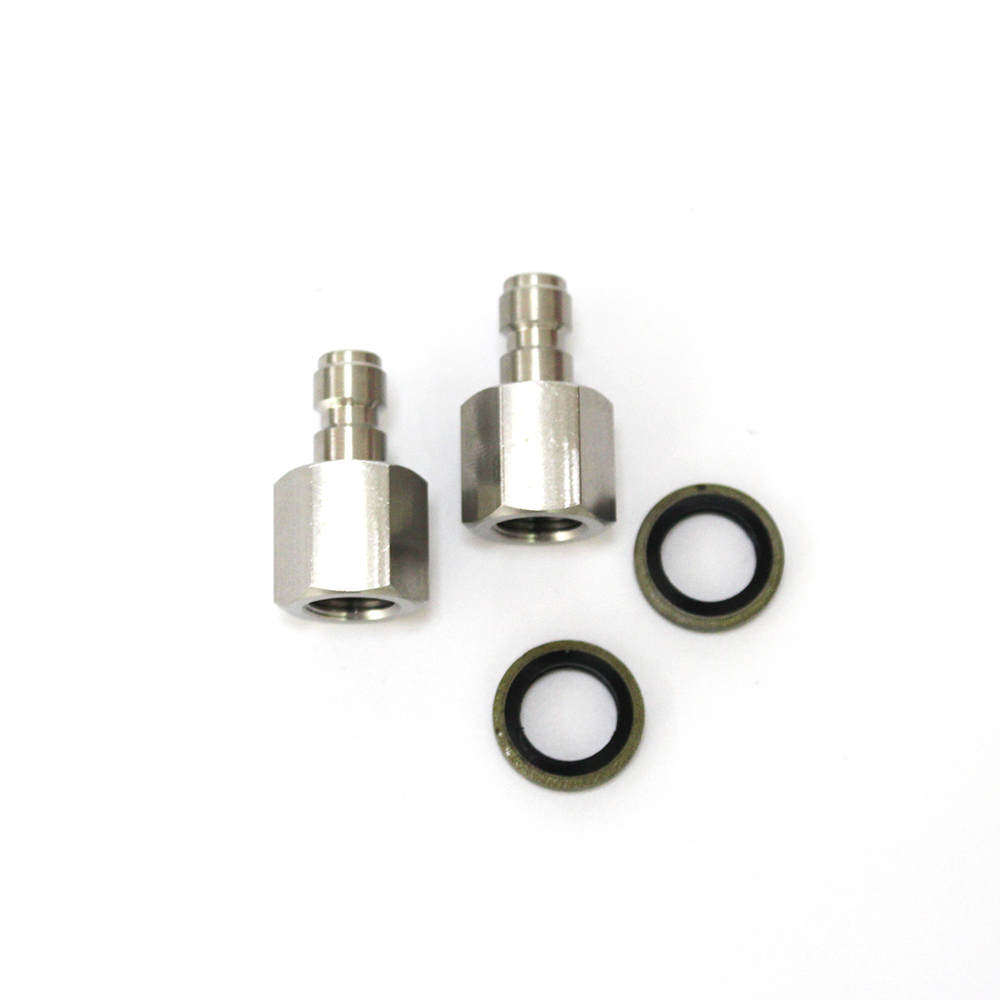 Free Shipping PCP Paintball Female Thread Plug 18/BSPP Stainless Steel Quick Plug With Seal Washers 4pcs/set