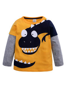 Children T-Shirt Tops Dinosaur Animal Long-Sleeve Baby-Boy Kids Blouse Tee New Print
