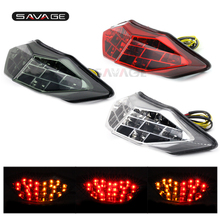 For KAWASAKI NINJA 250/300 Z250 2013-2016 14 15 Motorcycle Integrated LED Tail Light Brake Turn signal Blinker Lamp Red for honda cb400x cb500x cbr400r cbr500r cb500f 2013 2015 14 motorcycle integrated led tail light turn signal blinker lamp clear
