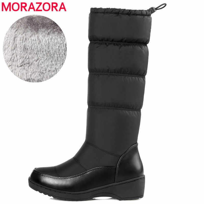 d426496e5 MORAZORA/Большие размеры 35-44, новинка 2018 г. модные женские сапоги,