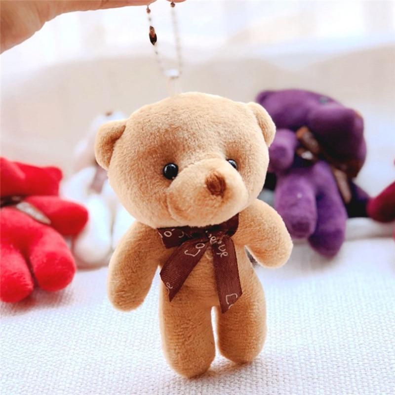 Buy Plush Toys Cute Small Siamese Bear Pendant Bag Joint Bear Small Doll Teddy Bear Plush Doll Toy for only 1.43 USD