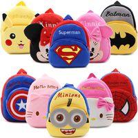 2016 Cartoon Kids Plush Backpacks Mini Schoolbag Hello Kitty Plush Backpack Children School Bags Cute Kids
