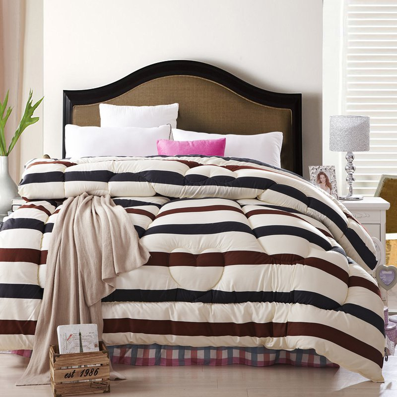 heavy king size comforter Strip style King size comforter set 220*240cm comforter 1pc  heavy king size comforter
