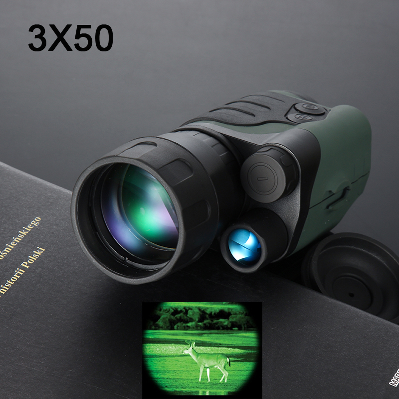 Gen1 day night vision sight 3X50 monocular infrared night vision goggles telescope for hunting night scope free shipping top high speed full teeth piston page 1