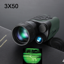 цена на Gen1 day night vision sight 3X50 monocular infrared night vision goggles telescope for hunting night scope free shipping