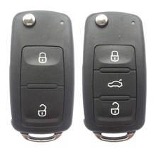 Для VW Tiguan брелок для ключей от машины Polo MK6 2/3 кнопки флип-пульт дистанционного ключа оболочки ключа автомобиля чехол держатель без лезвия автомобильные аксессуары