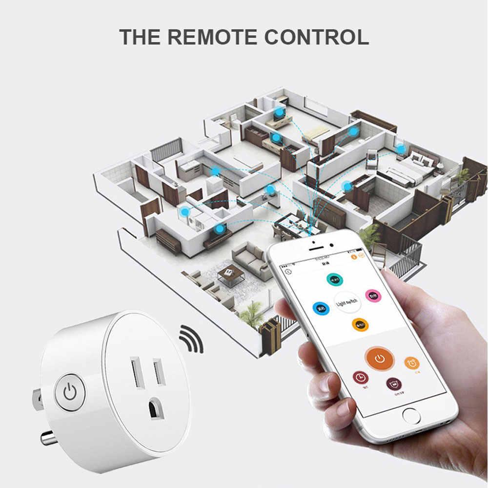 Inteligentna wtyczka WiFi bezprzewodowe sterowanie głosem zdalnego amerykańskie gniazdo włączania i wyłączania zasilania gniazda sieciowego z telefonu Mini inteligentnego domu gniazdo wtyczka US