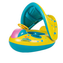 Summer 2018 Safety Baby Float Inflatable Circle Water Armpit Floating Kids Swim Pool Rafts Sunshade Seat Boat Double Rings Toy(China)