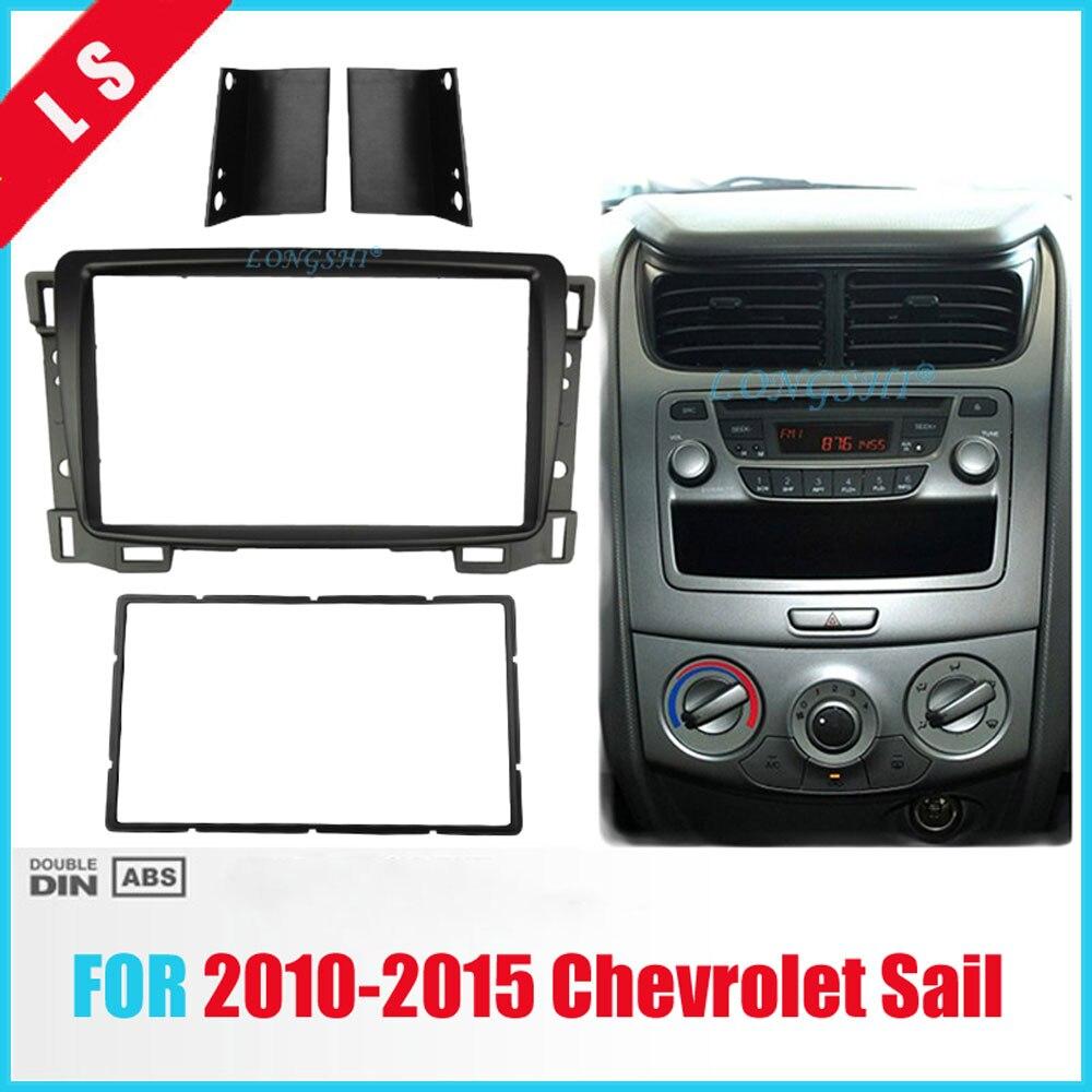 Radio Fascia For 2010 2011 2012 2013-2015 Chevrolet Sail Double 2 Din DVD Stereo Panel Dash Mount Install Trim Kit Refit Frame