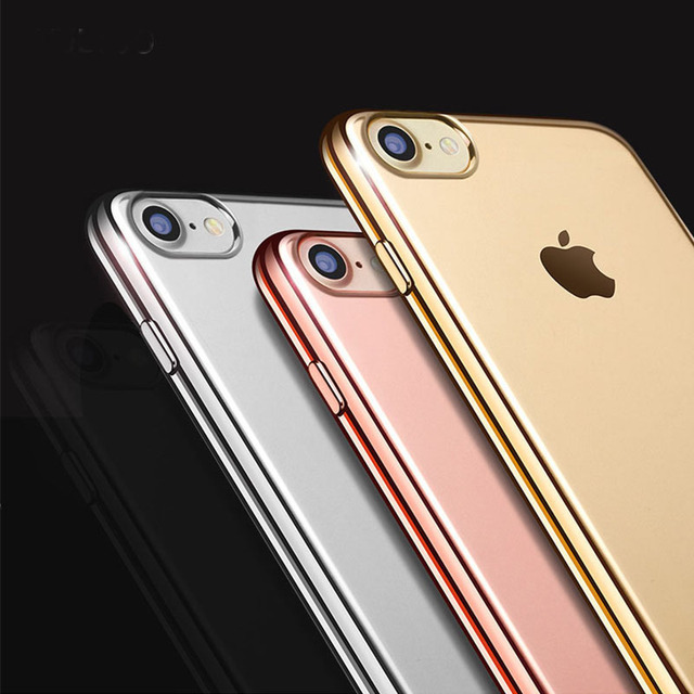 For IPhone X 8 7 6 6S Plus 5 5S SE Cover Gilding Finish Rose Gold