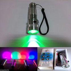 Colorshine zmiana koloru RGB LED latarka  3 W ze stopu Aluminium ze stopu Aluminium RGB Edison LED wielokolorowe oświetlenie LED rainbow 10 kolorów latarka