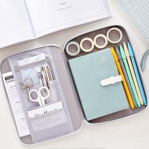 Image 4 - JIANWU 1Pc Koreanische Kreative Schreibwaren Tasche Für Mädchen Und Jungen Hohe Kapazität Bleistift Tasche Bleistift fall Schule Büro Liefert kawaii