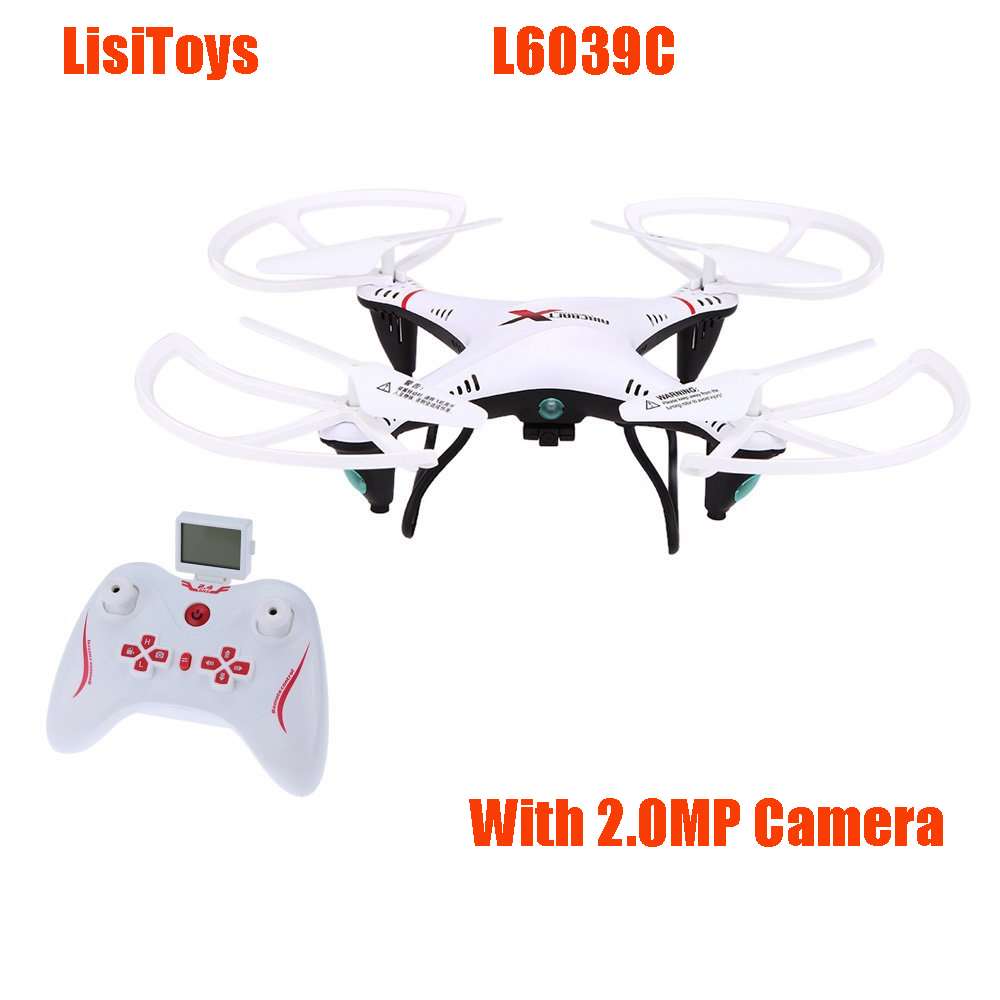 LishiToys L6039C 2.4Ghz 4CH 6-Axis Gyro RC Quadcopter UFO Aircraft Drone with 2.0MP HD Camera RTF original jjrc h28 4ch 6 axis gyro removable arms rtf rc quadcopter with one key return headless mode drone