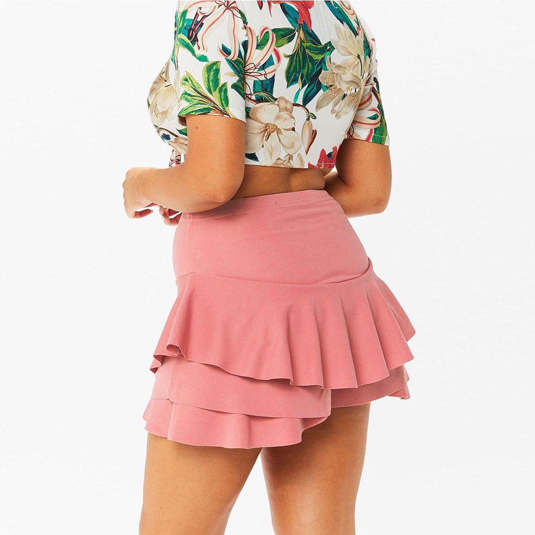 Comfortable Women Casual Fashion Sexy High Waist Ruffles   Shorts   Skirts Bottoms   Shorts