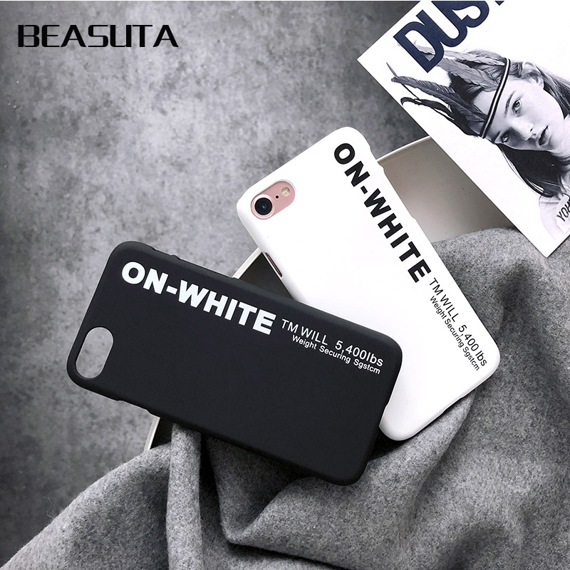 Fashion Protect <font><b>white</b></font> phone <font><b>Case</b></font> for <font><b>iphone</b></font> 6s <font><b>6</b></font> S 7Plus 8 8plus X Brand Cover Coque funda capa for <font><b>iPhone</b></font> X <font><b>off</b></font> <font><b>case</b></font> kilif image