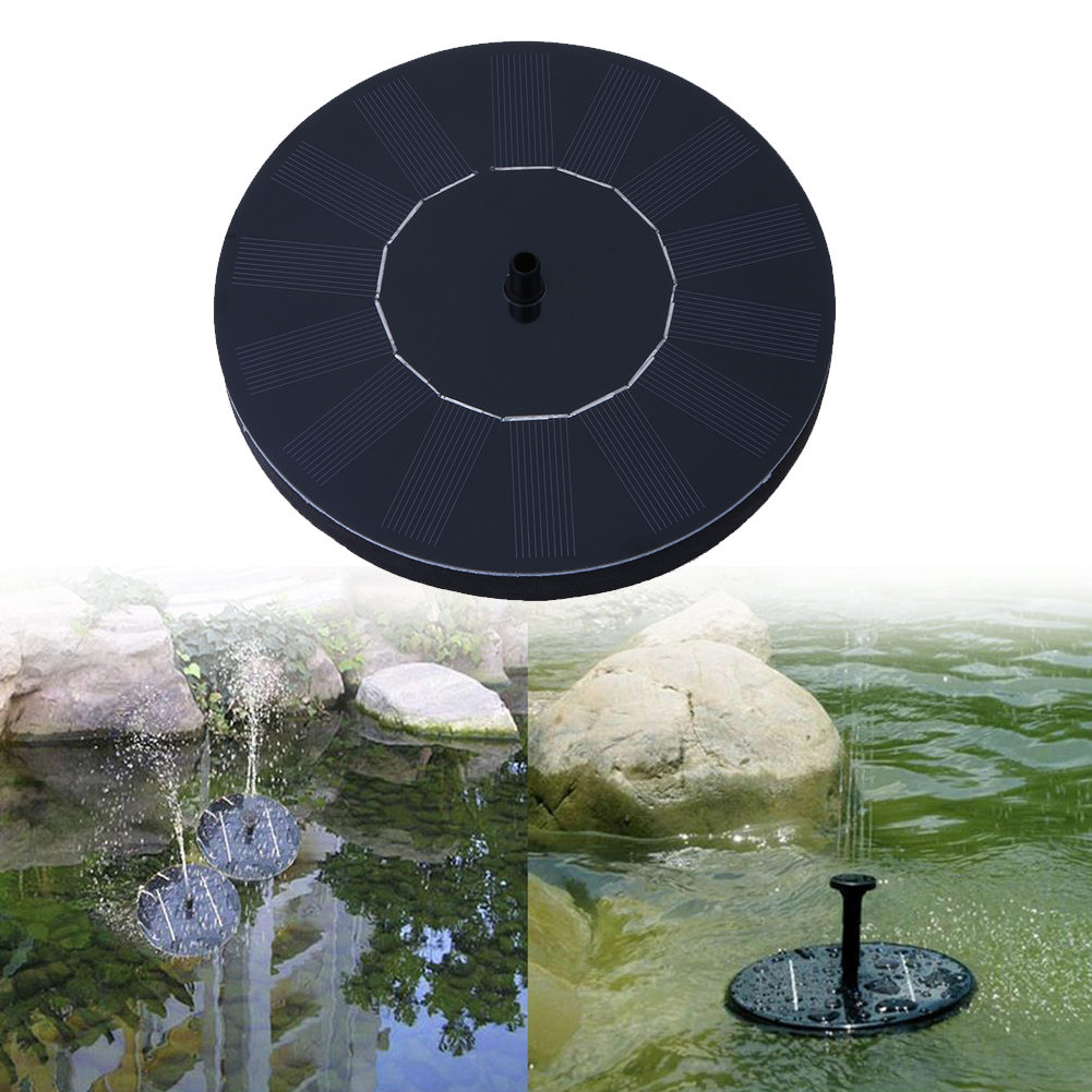 Animatey El Panel Flotante de la Bomba de Agua Solar Fuente de energ/ía Solar del jard/ín Kit de riego para estanques de jard/ín