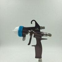 SAT1202 высокого качества двойной насадкой распылителем зеркало в серебряной краской руководство порошковое покрытие пистолет полиуретана В