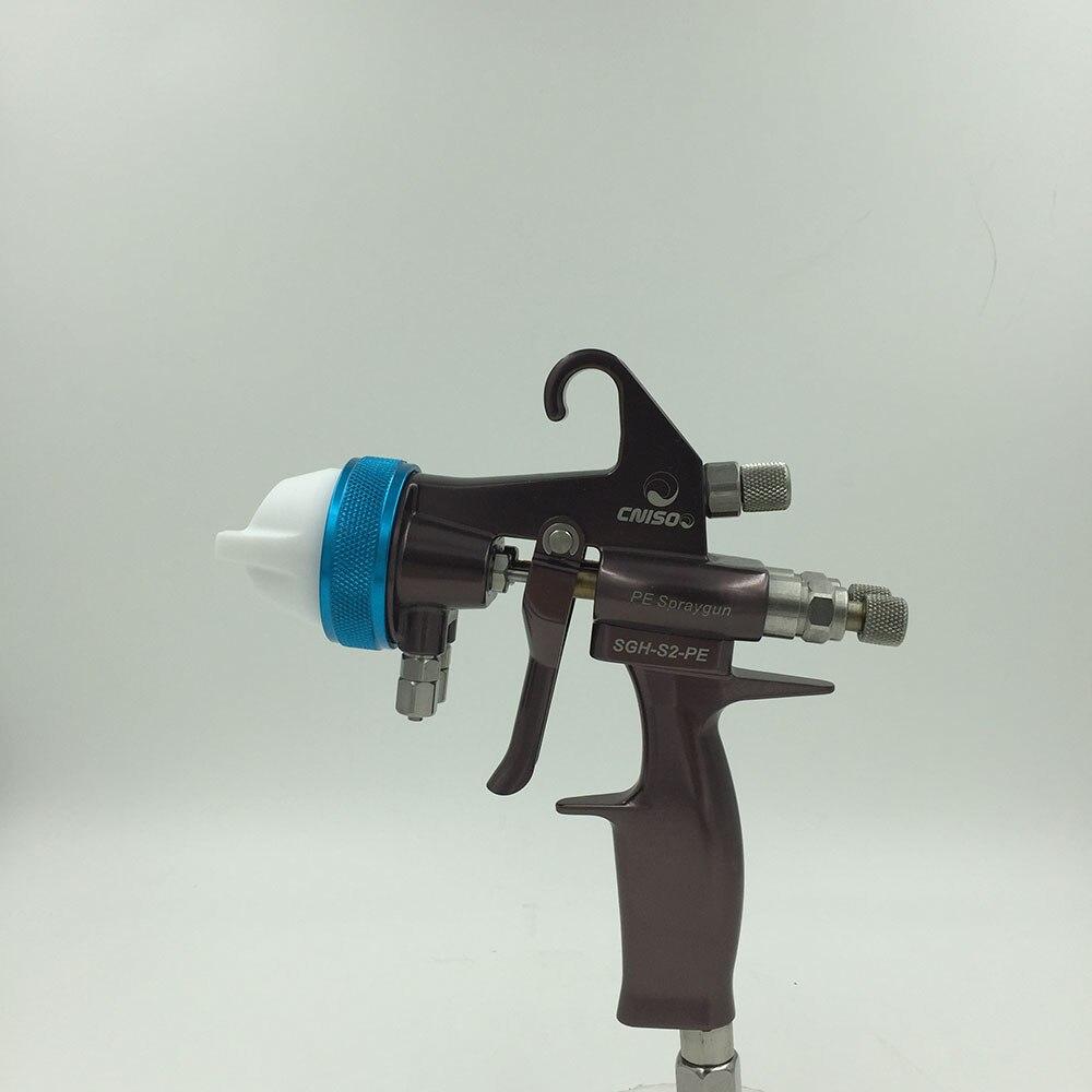 все цены на SAT1202 high quality dual nozzle spray gun silver mirror paint manual powder coating gun high pressure polyurethane spray foam онлайн