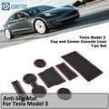 Tesla modell 3 Anti-Slip MatlGate Slot Pad Für Tesla Modell 3 Tür Nut Matte Tesla 3 Pad Tasse halter Konsole Auto Matte Liner