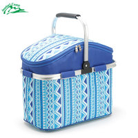 Jeebel 26L Picnic Basket Camping Refrigerator Bag Beer Ice Cooler Thermo Tourism Equipment Outdoor Beach Recreation