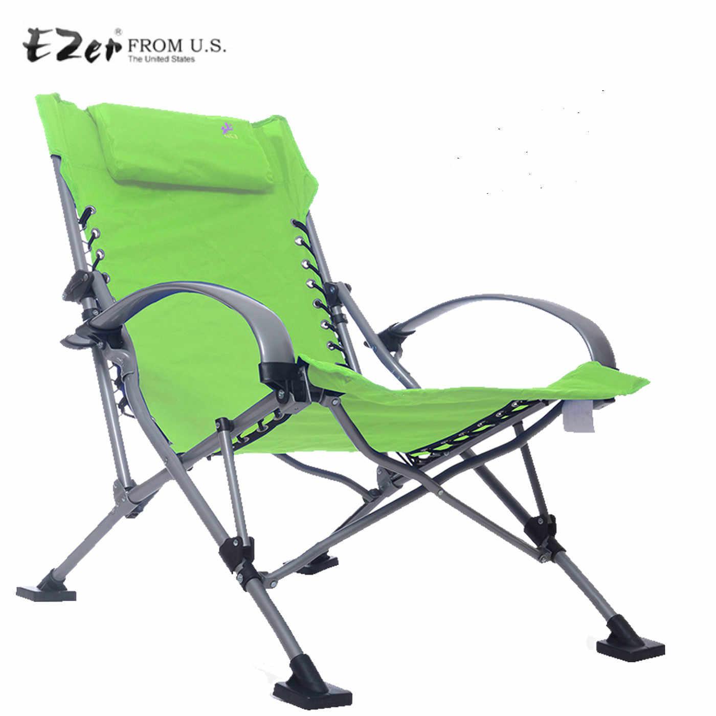 Aluminum Lightweight Folding Beach Chair Fishing Seat Paddle