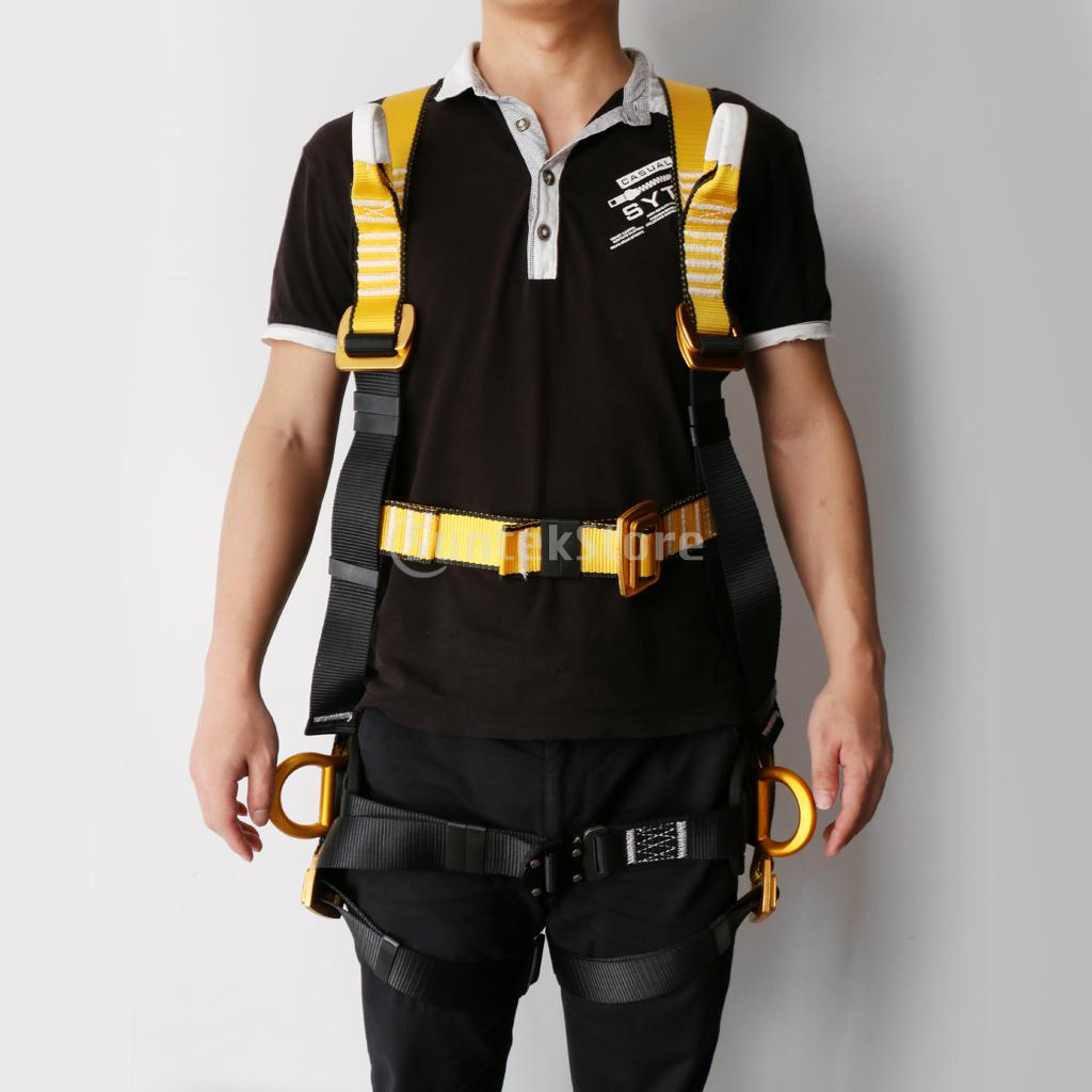 Professional Full Body 5 Point Safety Harness Seat Sitting Bust Belt Rock Climbing Rescue Fall Arrest Protection Gear Equipment